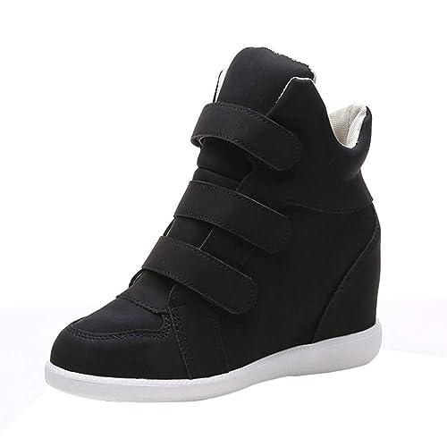 Botas Punta Redonda Plano de Mujer, QinMM Botines Zapatos clásicos de Martain de Invierno de otoño Sneakers Zapatillas