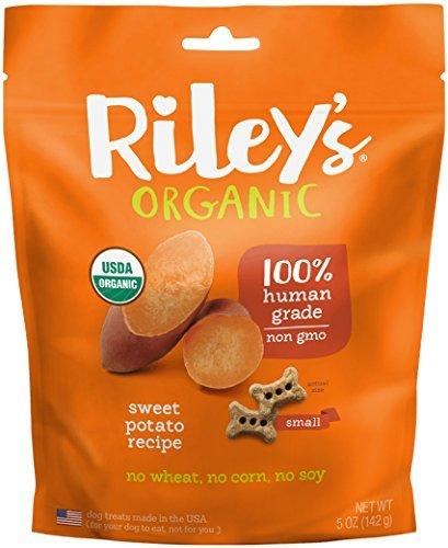 Riley's Organics - Sweet Potato - 5 oz Small Biscuits - Human Grade Organic Dog Treats - Resealable Bag (Organic Treats Potato Sweet Dog)