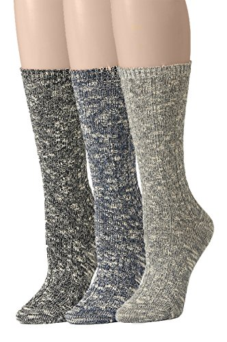 Leotruny 3-Pack Women's Slouch Vintage Knit Cotton Boot Socks (3pairs-assorted)