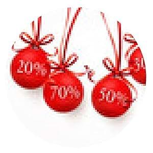 alfombrilla de ratón Bolas de Navidad con cintas - Descuentos - ronda - 20cm