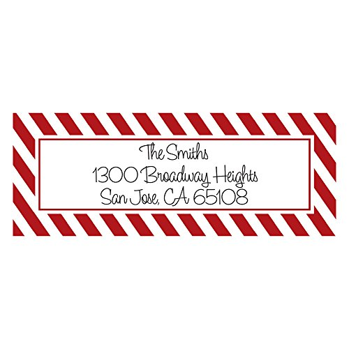 Custom Candy Cane - Personalized Christmas & Holiday Return Address Labels - Set of 30