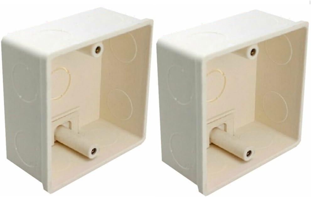 LEDENET 2pcs 86 x 86 x 40 mm empotrable/eléctrico caja de montaje ...