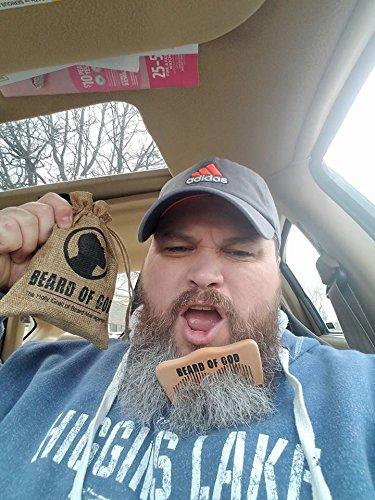 Chocolate | BEARD OIL Conditioner + BALM + BAR SOAP + WOOD COMB & BURLAP SACK by BEARD of GOD | Made to Order | ORGANIC | Tames Wild Beard Hairs & Softens Skin by Beard of God (Image #4)