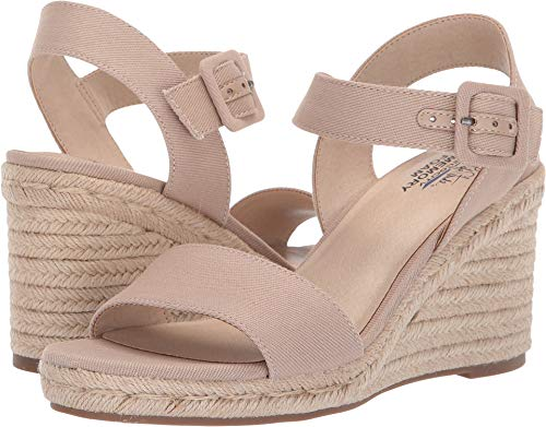 LifeStride Women's Tango Tender Taupe Soft Canvas 7.5 W US