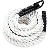 Crown Sporting Goods 25' Thick 1.5' White Poly DAC Gym Climbing Rope