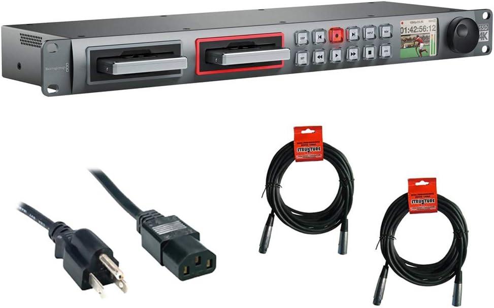 Amazon Com Blackmagic Design Hyperdeck Studio Pro 2 With Pc Power Cord 6 2 Xlr Xlr Cable Bundle Camera Photo