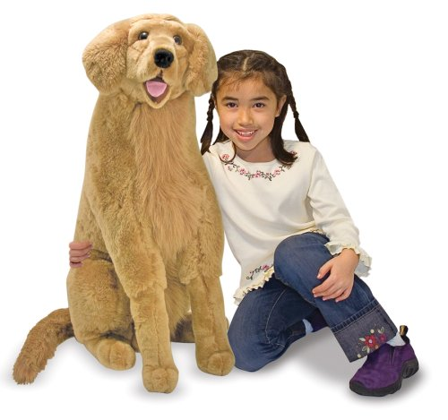 Melissa & Doug Giant Golden Retriever - Lifelike Stuffed Animal Dog (over 2 feet tall)