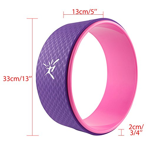 Yoga Wheel Strongest Most Comfortable Dharma Yoga Prop Wheel for Yoga Poses, Perfect Roller For Stretching, Increasing Flexibility and Improving Backbends