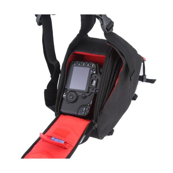 Caden K1 Waterproof Fashion Casual DSLR Camera Bag Case Messenger Shoulder Bag per Canon Nikon Sony (Nero) 3 spesavip