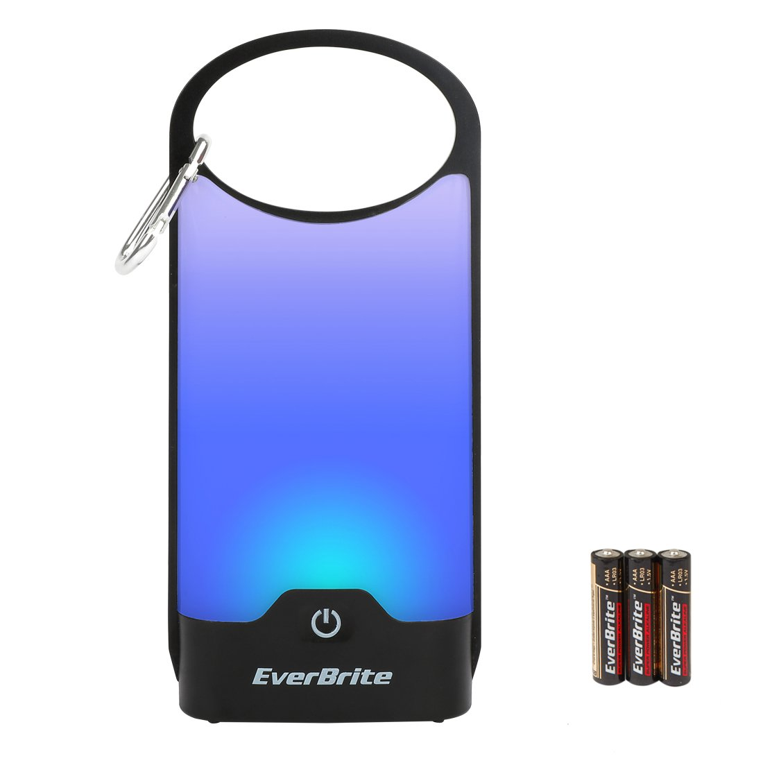 EverBrite LED Camping Lantern Touch Control 150 Lumen 5 Modes Ultra Bright Hiking Fishing Outdoor Handheld Night Lights 3 AAA Batteries Included