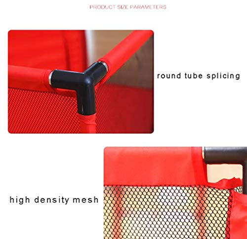 Baby Playpens Red Extra Large with Soft Spong Pad and 200 Ocean Balls, Baby Kids Play Pens 4 Panel Kids Activity Center Room for Infant, Indoor Outdoor New Pen (Size : 180x120cm) by Baby Playpens (Image #5)