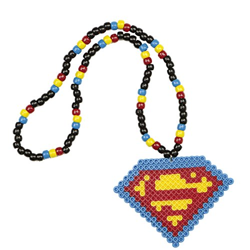 Superman Kandi Necklace, Perler Necklace, Rave Accessories, Beaded Necklaces for halloween (Halloween Rave)