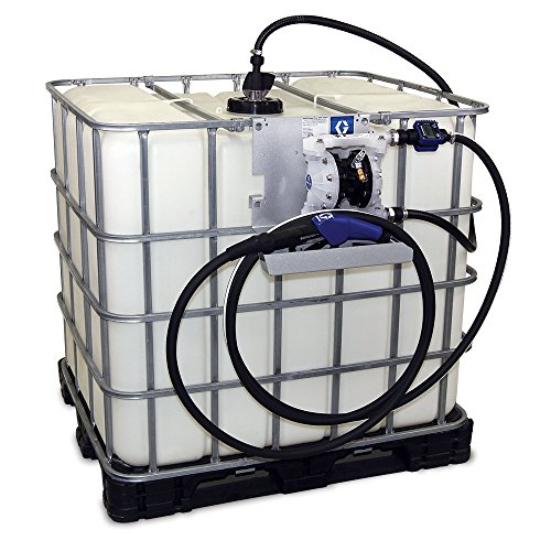 Pump Drum Pneumatic (Graco 24V677 SD Blue Pneumatic Diesel Exhaust Fluid (DEF) Tote Pump Package with Digital Meter and Auto Nozzle, 15 gpm Max Flow Rate)