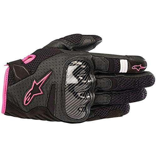 Alpinestars Women's Stella SMX-1 Air V2 Gloves (MEDIUM) (BLACK FUCHSIA)