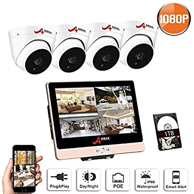 PoE Home Security Camera System 2 Megapixels Super HD 1080P Surveillance Video System QR Code Easy Setup, Free Remote View ANRAN by Shenzhen Anran Security Technology Co., Ltd