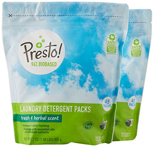 Amazon Brand Presto! Biobased Laundry Detergent 2-Pack Only $13.99