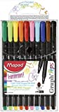 Maped Graph Peps Fine Felt Tip Pens (Pack Of 10)