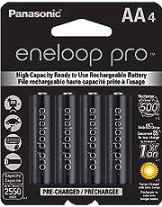 4 Pilhas AA Recarregáveis da Eneloop Pro 2550 mAh