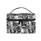 Toiletry Bag Multifunction Cosmetic Bag Portable Toiletry Case Waterproof Travel Organizer Bag for Women Girls Hiphop Original Youth
