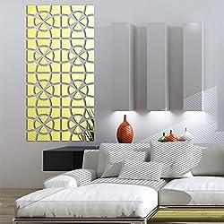 Pymega(TM) new big 3d wall stickers decor modern acrylic living home large mirror still life surface wall sticker diy