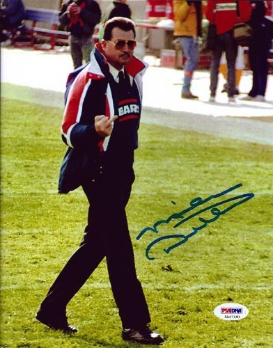 MIKE DITKA AUTOGRAPHED 8X10 PHOTO CHICAGO BEARS GIVING THE FINGER PSA/DNA STOCK #68874