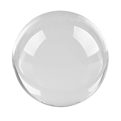 Figurines & Miniatures Home Decor 40mm Clear Round Magic Artificial Crystal Glass Healing Transparent Glass Ball Sphere Stone With Base Good Luck Home Decor