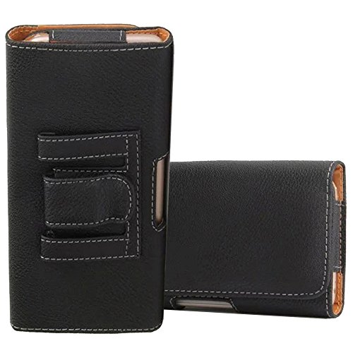 Universal Holster Case For LG X power 2 Cover Protective Cases Premium PU Leather Pouch Belt Clip And Loops for 5.2-6.0 Inch Cell Phone - (Black-lzw1)