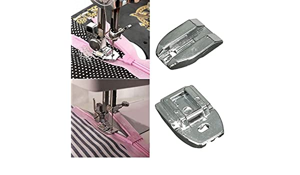 Amazon.com: [Free Shipping] Invisible Zipper Presser Foot Sewing Machine Presser Foot Sewing Tool // Coser pie herramienta de coser pie de la máquina ...