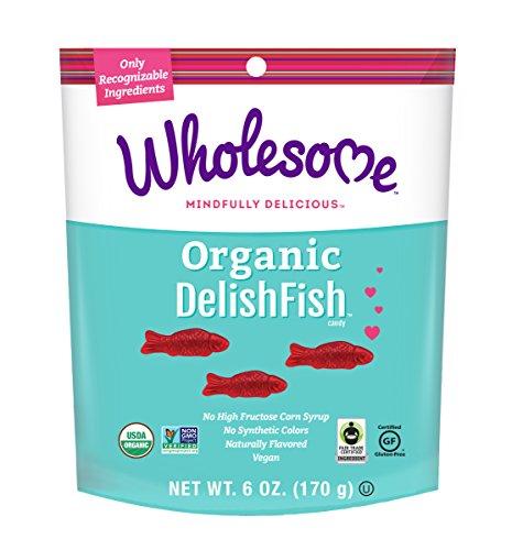 Wholesome Fair Trade Organic DelishFish, No Artificial Colors or High Fructose Corn Syrup, Non GMO & Gluten Free, Vegan, 6 oz (Pack of 6)]()