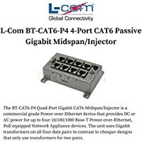 L-Com BT-CAT6-P4 4-Port CAT6 Passive Gigabit Midspan/Injector