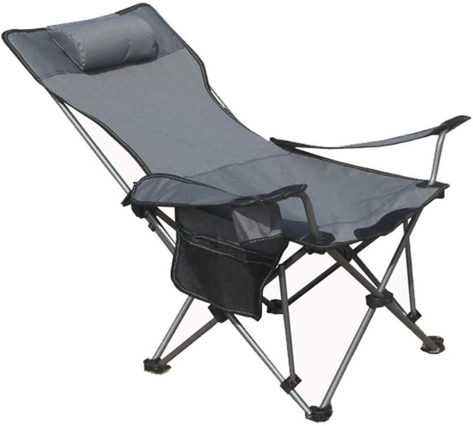 Dilwe Folding Chair Portable Camping Chair with Storage Bag for Fishing Hiking Picnic Outdoor