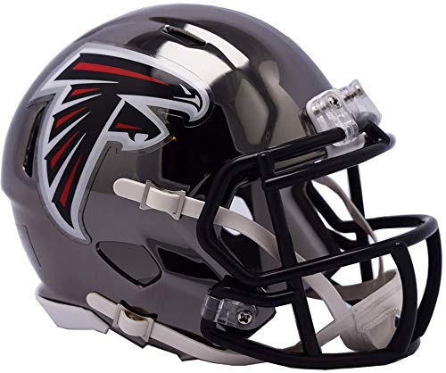 Sports Memorabilia Riddell Atlanta Falcons Chrome Alternate Speed Mini Football Helmet - NFL Mini Helmets ()
