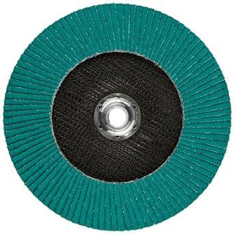 "3M Flap Disc 577F, T27, Alumina Zirconia, Dry/Wet, 7"" Diameter, 60 Grit, 5/8""-11 Thread Size (Pack of 1)"