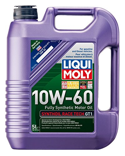 Liqui Moly (2024-4PK) Synthoil Race Tech GT1 10W-60 Motor Oil - 5 Liter, (Pack of 4) by Liqui Moly