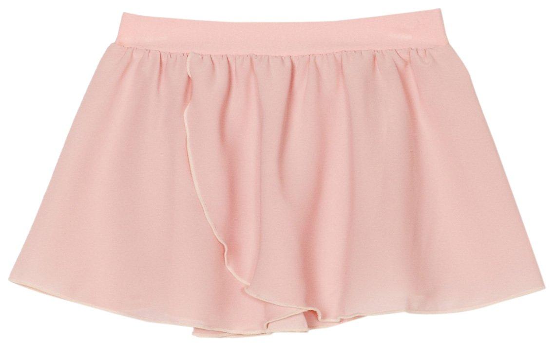 Sansha Little Girls' Serenity Pull-On Skirt, Light pink ,Toddler(B)/2-4