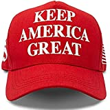 Hyrevue High End Retail Official Donald Trump Hat Keep America Great MAGA Cap 2020 American Flag Pin USA Red