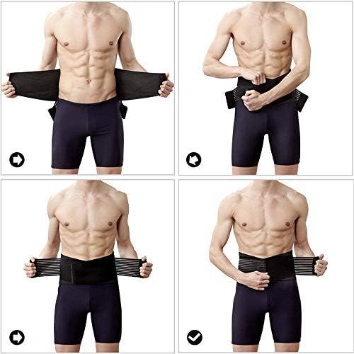 L.P.L 腰痛ベルト サポートベルト 腰 サポーター 姿勢矯正 腰痛コルセット ぎっくり腰 予防 ベルト (Color : ブラック, Size : L)