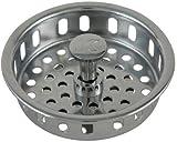 Keeney K1438-1 Replacement Adjustable Post Cast Brass Strainer Basket, Chrome