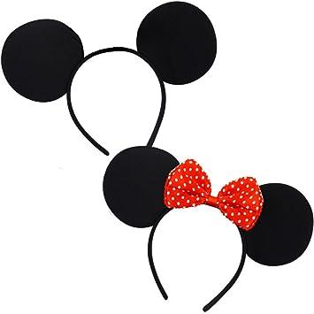 German Trend Seller® - Juego de Mickey & Minnie (disfraz, diademas ...