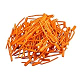 Karooch 50pcs Plant Vine Garden Tool Fixed Fork Plant Support Clips for Vines Plant Strawberry&Watermelon(Orange)