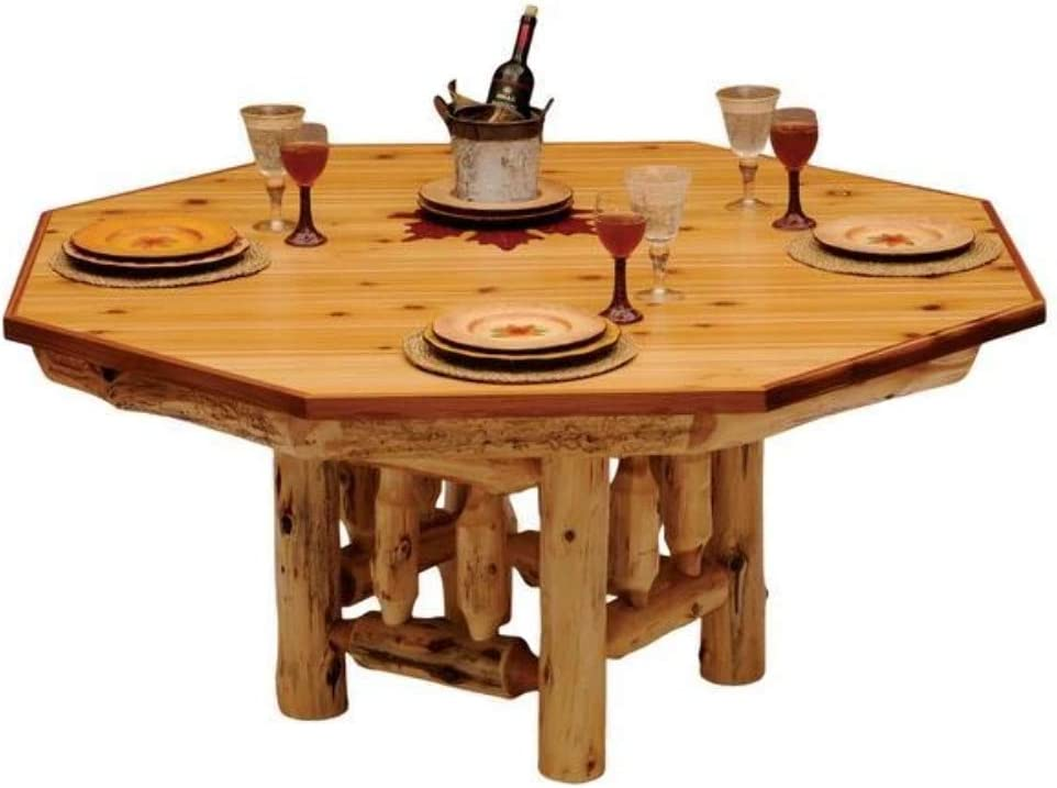 Amazon Com 6 Sided Cedar Log Poker Table Armor Finish Top Optional Dining Table Cover In 3 Finishes Kitchen Dining