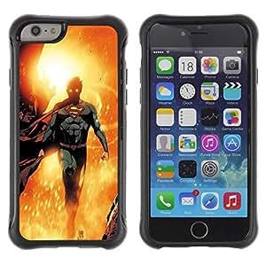 LASTONE PHONE CASE / Suave Silicona Caso Carcasa de Caucho Funda para Apple Iphone 6 PLUS 5.5 / Hero Sun Flying Children'S Character
