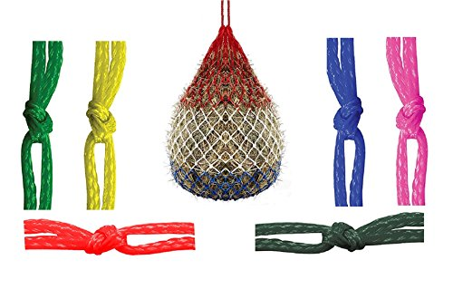 Slow Feed Horse Hay Net Bag Haynet for Horses Feeder Tough Haybag Heavy Duty Poly Bag Large 42