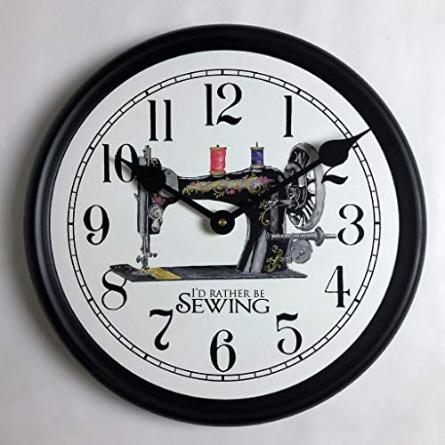 Sewing Room Wall Clock, Available in 8 Sizes, Most Sizes Ship The Next Business Day, Whisper Quiet.