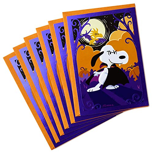 Hallmark Peanuts Halloween Cards (6 cards with Envelopes)]()