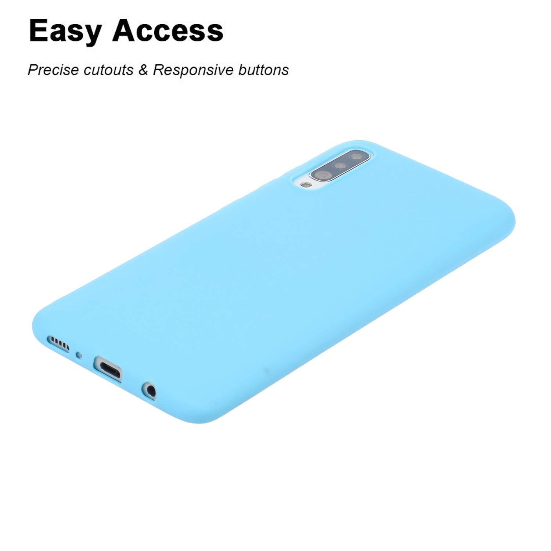 Bigcousin Funda con Cuerda Compatible con Samsung Galaxy A50//A50S//A30S,Transparente de TPU con Ajustable Collar Cadena Cord/ón,Multicolor