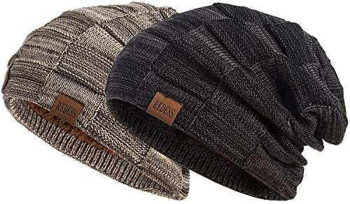REDESS Beanie Hat for Men and Women Winter Warm Hats Knit Slouchy Thick Skull...