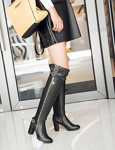 XZZ    Damen-Stiefel-Büro   Lässig   Party & Festivität-Kunstleder-Blockabsatz-Modische Stiefel-Schwarz   Braun   Gelb B01KPZWWQY Sport- & Outdoorschuhe Nutzen Sie Materialien voll aus 746941