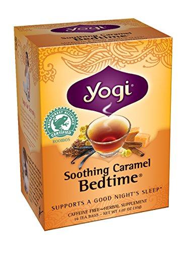Yogi Apaisant Caramel Bedtime Thé, 16 sachets de thé (pack de 6)