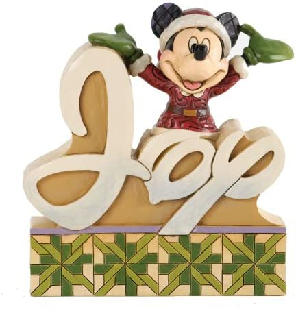Jim Shore for Enesco Disney Traditions Mickey Word Plaque, 4.5-Inch